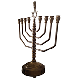 Menorah a seven-branched lampstand used in the ancient Tabernacle in the desert and Temple in Jerusalem Jewish Lamp